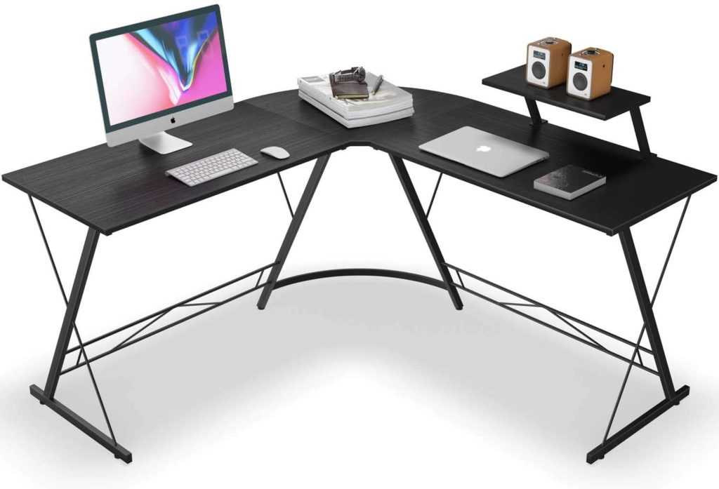 Casaottima L Shaped Home Office Desk With Round Corner