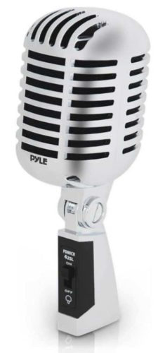 Pyle PDMICR42SL Classic Retro Dynamic Vocal Microphone