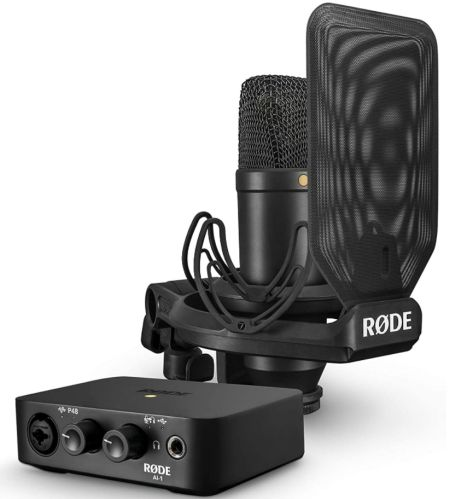Rode NT1 B077Y5C6HZ USB Audio Interface Pack