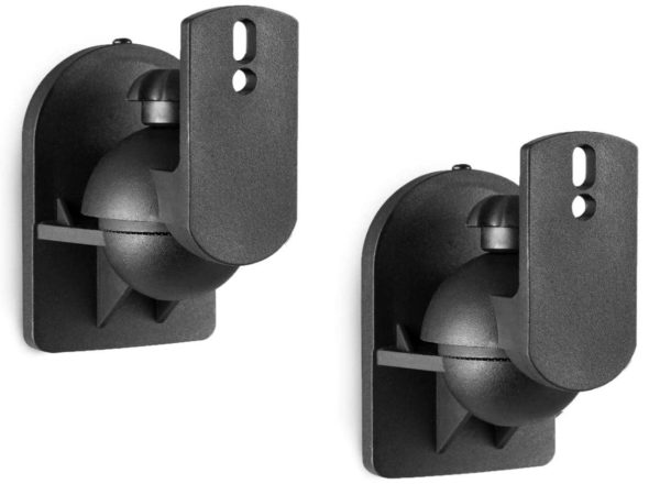 WALI Dual Speaker Wall Mount Brackets SWM202