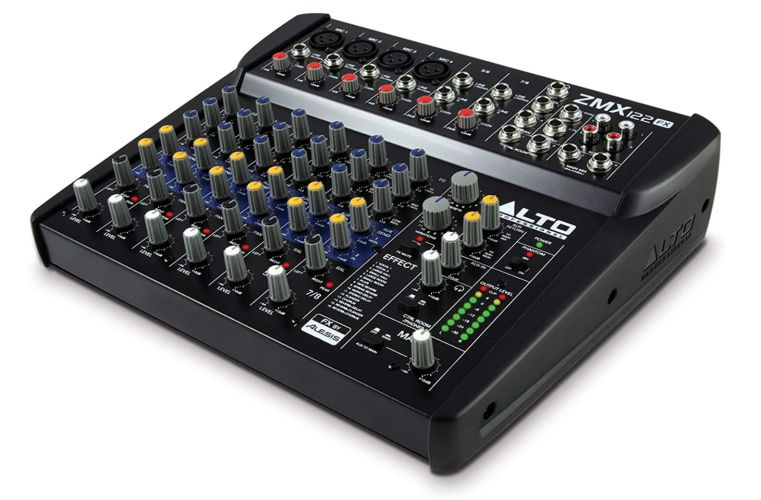 Alto Professional ZMX122FX 8 Channel Compact Audio Mixing Desk with Built-In Effects