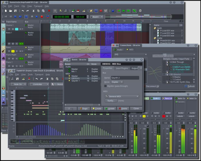 Qtractor An Audio-MIDI multi-track sequencer