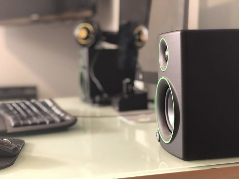 Height And Tilt Of The Studio Monitors